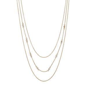 Gorjana 18k Gold Plated CZ Circle 3 Layer Necklace